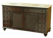 """Pegasus Bimini 60"""" Double Basin Vanity Cabinet"""