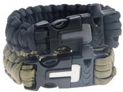 Attmu Outdoor Survival Paracord Bracelet 2-Pack