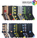 30 Pairs of John Weitz Fashion Designer Casual Dress Socks