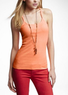 Two Express Women's Strappy Racerback Ribbed Tanks