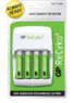GP Recyko Value Charger with 4 AA NiMH Batteries