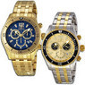 Invicta II Gold Tone Chronograph Sports Mens Watch
