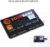 Black Credit Card Shaped 8 GB USB Flash Drive