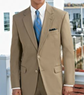 Men's Natural Stretch 3-Button Poplin Plain Front Suit