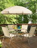 6pc Garden Oasis Folding Patio Set