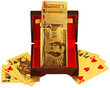24K 99.9% Gold-Plated Playing Cards Deck w/ Custom Box