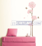 Easy Install Butterflies and Flowers Decorative Wall Decals