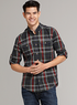 Men's Slim Fit Madras Plaid Shirt