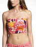 Women's Palm Print Midi Bandeau Top