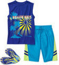 Op Boys' Swim Shorts, Shirt, and Flip Flops
