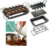Brownie / Treat Pan with Steel Mesh Strainer Tongs