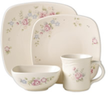 Tea Rose Square 16 Piece Dinnerware Set