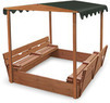Badger Basket Covered Convertible Cedar Sandbox w/ Canopy