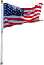 16 Ft Aluminum Telescoping Flagpole Kit