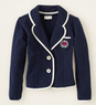 Girls' Preppy Knit Blazer