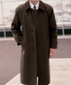 Men's Cotton Raincoat with Leather Collar