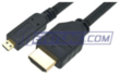 10-Foot Micro HDMI to Standard HDMI Cable with Ethernet
