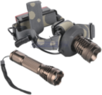 XM-L T6 1,000-Lumen Cree LED Flashlight with Headlamp