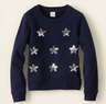 Girls' Sequin Stars Sweatshirt