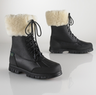 Quinta Leather-Shearling Boots