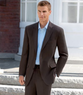 Cotton Twill 2-Button Side Vent Plain Front Suit