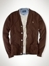 Men's Cotton Mesh Cardigan