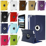 Rotating Faux Leather Smart Cover iPad Case