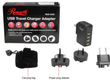 Rosewill RUC-6181 4 Port USB International Travel Charger