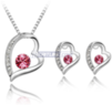 Heart Swarovski Crystal Jewelry Set