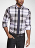 Plaid Fitted Military Shirt