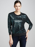 Women's Sequined Cashmere Sweater