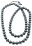 10mm Faceted Hematite Bead Macrame Necklace