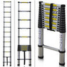 12.5' Extension Telescoping Aluminum Ladder