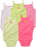 3x Carter's Girls' Sleeveless Bodysuits 5-Packs