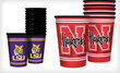 Set of 12 NCAA Souvenir Cups