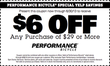 Performance Bike - $6 Off $29+ In-Store Purchase