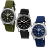 Seiko 5 Men's Automatic Green Canvas Strap Watch