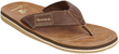 Bearpaw Men's Heath Casual Thong Sandal w/ Leather Upper