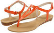 Nine West Weightless Orange Patent Synthetic Sandals