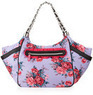 Betsey Johnson Rose Print Nylon Satchel