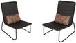 Garden Treasures Kenmont Steel Woven-Seat Patio Chairs