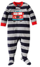 Carter's Striped Fire Truck Microfleece Footed Pajamas
