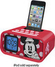 Disney Minnie Mouse Dual Alarm Clock Speaker System for iPod