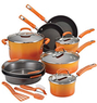 Rachael Ray Orange 15-pc. Nonstick Cookware Set