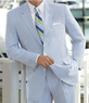 2x Jos. A. Bank Men's Stays Cool 2-Button Seersucker Suits