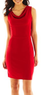 Worthington Women's Drape-Neck Sheath Dress