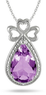 3-Carat Amethyst and Diamond Triple Heart Pendant