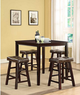 5-Piece Saddle Pub Dining Set