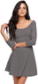 LA Hearts Women's Textured Cross Back Dress