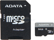 ADATA Premier 64 GB UHS-1 microSDXC Flash Card with Adapter